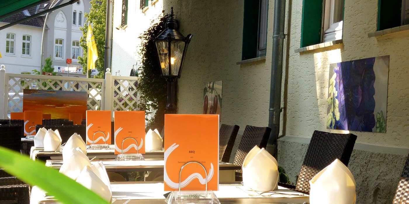 Biergarten und Terrasse