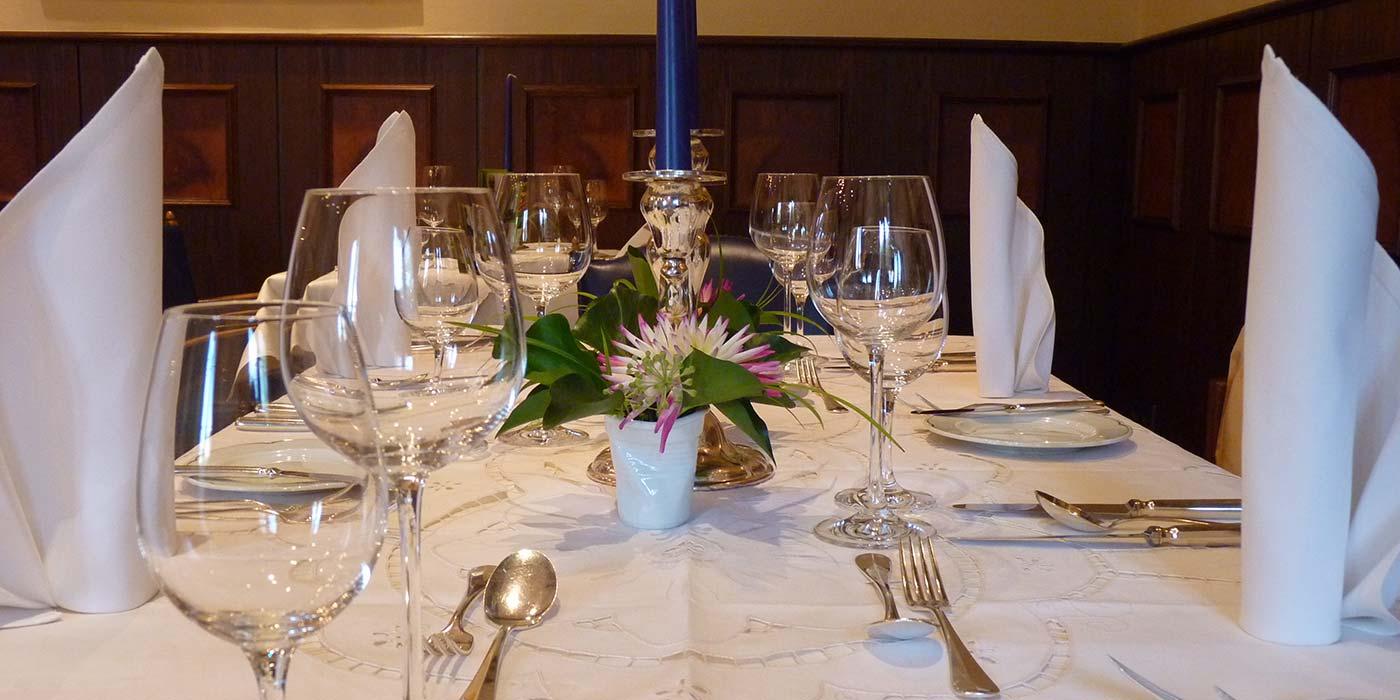 Ein schön gedeckter Tisch